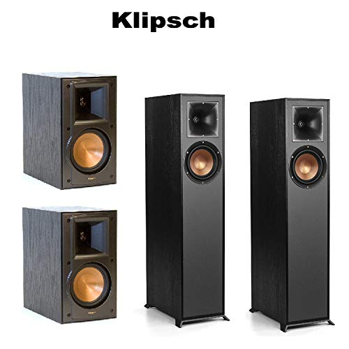 For Sale! Pair of Klipsch R-610F Floorstanding Speaker (Black) - Each Klipsch RB-51 II Reference Boo...