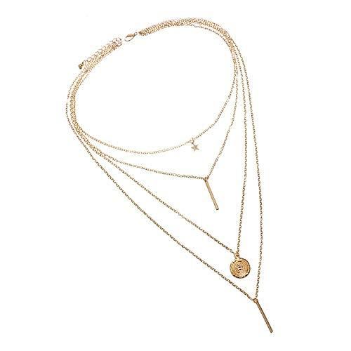 Collier Pratique Collocation Collarbone Chain Femme Vêtements Accessoires (Comme le Montre)