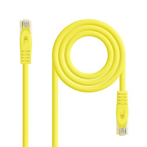NanoCable 10.20.1802-Y - Cable de Red Ethernet RJ45 LSZH Cat.6A UTP, AWG24,...