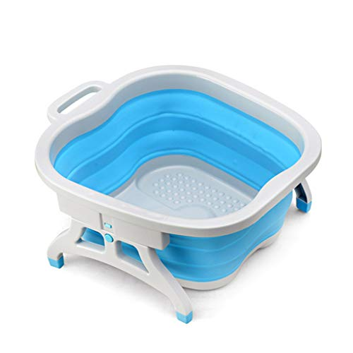 Foot Massagers Pedicure Bucket Foot Bath Barrel Massage Buckets Blue Plastic Foot Bath Barrel Foot Massage Basin Folding Foot Bath Household Foot Bath Products The Best Gift For Family And Friends Foo