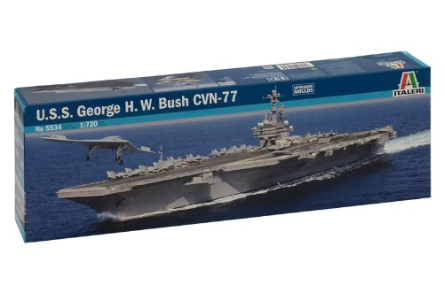 Italeri 5534 - USS George H.W. Bush Cvn 77 Model Kit  Scala 1:720