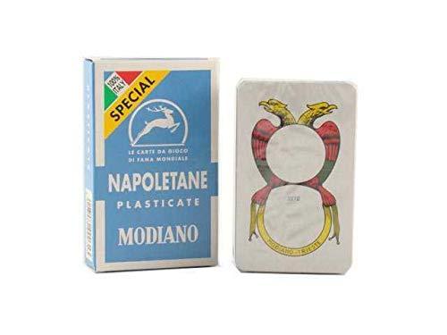 Napoletane Spielkarten Modiano, Sonderauflage, Special Azzurre, Cartoncino Triplo 300056 Forza Napoli