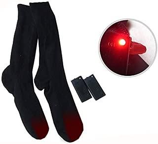 Calcetines Calefactables 4.5 V,Calcetines T/érmicos de algod/ón de Doble Capa para Hombres y Mujeres para Acampar//Pescar//Ciclismo//Motociclismo//esqu/í