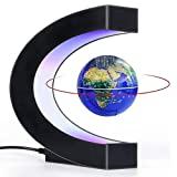 Magnetic Levitation Globe Maglev World Map Cool Gadgets Gifts for Men Fun tech Gifts C Shape Magnetic Floating Globe Spinning Globe with LED Light Unique Gadgets Birthday