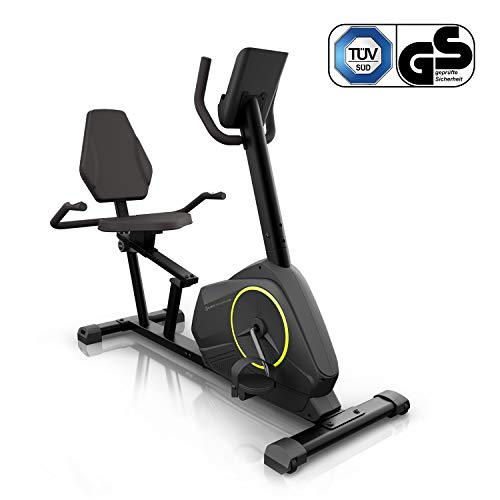 Klarfit Epsylon Cross AS Crosstrainer - Crosswalker, Volano 12 kg, 24 Gradini, Cardiofrequenzimetro, Supporto per Tablet, Max. 120 kg, Nero