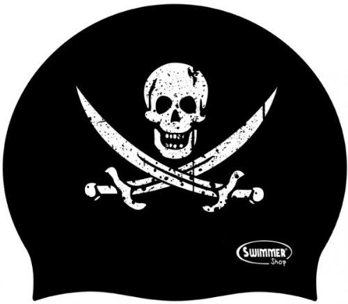 Cuffia Silicone Teschio Pirata Calico Jack by Naughty Swimmer da Piscina