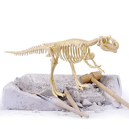 Powerking Fósil de Dinosaurio,Excavar y Descubrir Dinosaurio jurásico para niños,Rompecabezas Huesos Educativo Arqueología Fósil Esqueleto(Tirano saurio Rex)