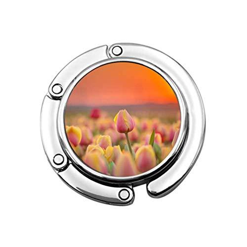 Schöne Blume kreative tulpe Tisch Tasche aufhänger Haken Haken aufhänger für geldbörse einzigartige Designs klapp Abschnitt lagerung Tisch Haken aufhänger