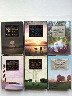 Nicholas Sparks (6 Book Set) Nights in Rodanthe -- The Guardian -- The Wedding -- True Believer -- At First Sight -- Dear John.