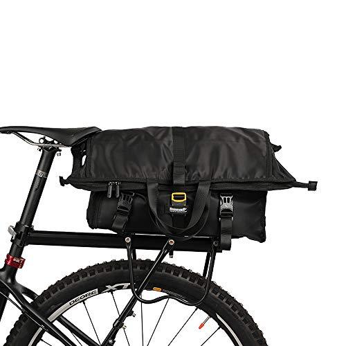 Wildken Gepäckträgertaschen wasserdichte Fahrradtasche Fahrradsitz Tasche Schultergurt Tasche Handtasche Packtasche für Mountainbike Fahrräder Rennräder (Schwarz)