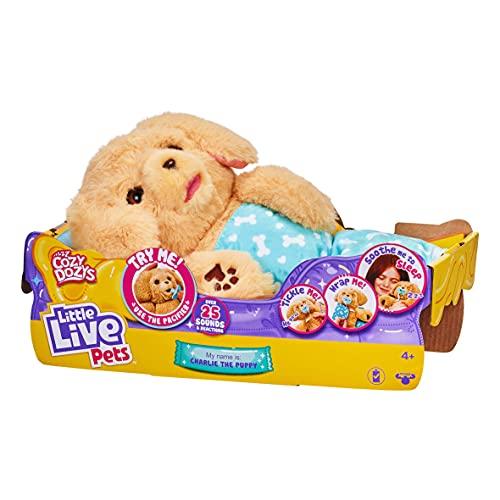 Little Live Pets - Cozy Dozys: Charlie The Puppy | Interactive Plush...