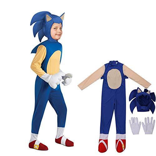 YourBoob Nios Sonic The Hedgehog Disfraz Anime Cosplay Halloween Carnaval Fiesta Monos Disfraz para Fiesta De Disfraces Y Halloween,S