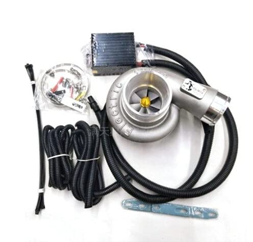 Fangaichen Adecuado para el Coche Universal 12V Turbo Turbo Supercharger Kit Empuje...
