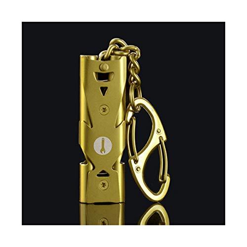 HENGTONGTONGXUN Edelstahl Pfeife, im Freienüberlebens-Pfeife, Wilder Hochfrequenz-Pfeife, Erdbeben Rettungspfeife, Hohe Decibel Double Whistle Einfaches und praktisches Produkt Pfeife