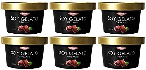 無添加アイス オーガニックSOYジェラート チョコレート 85ml×6個 ★クール冷凍便 ★ 驚くほどビターな大人のチョコ ★卵・乳製品不使用★有機JAS(無農薬・無添加)★豆乳ジェラートアイス