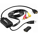 HDMI to RCA Converter, 1080P HDMI to AV 3RCA CVBs Adapter Cable Composite Video Audio Supports NTSC for TV Stick, Roku, Chromecast, Apple TV, PC, Laptop, Xbox, HDTV, DVD (Female to Female)