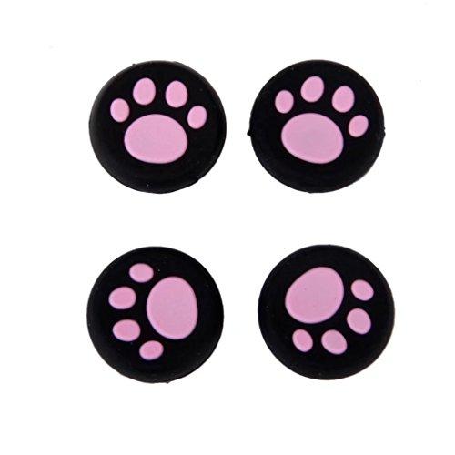 ricisung TPU Schutz Kappen für Daumentasten Sony PS4Controller, Pink-4pc