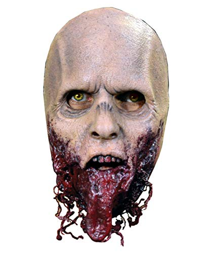 Horror-Shop The Walking Dead Jawless Zombie Halbmaske - Latex