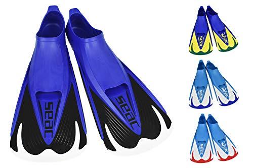 SEAC Unisex Vela OH, nurkowanie i basen pływanie krótkie płetwy z regulowanym paskiem, czarny, 8/9 UK