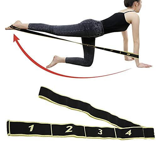 Cinturón elástico de yoga, correa de entrenamiento de fuerza, correa de estiramiento de yoga, herramienta de cuerda de estiramiento de entrenamiento físico, cinturón de tensión de yoga para(yellow)