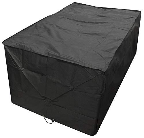 WCCCW Funda de Polietileno para Mesa de jardín - Oxford Tela Amazon Muebles de Exterior jardín Protector Solar Impermeable Mesa y Silla Cubierta de Polvo-Los 242x162x100cm