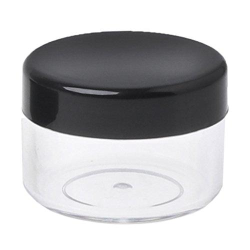 SimpleLife 5 g Leere Kunststoff-Kosmetikdosen/Makeup-Dose Mini-Probenflasche für Kosmetik/Pulver/Mineral Make-up/Rouge/Foundation Travel Nützlich, 29x22mm