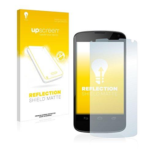 upscreen Entspiegelungs-Schutzfolie kompatibel mit LG Electronics Google Nexus 4 – Anti-Reflex Bildschirmschutz-Folie Matt