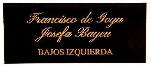 Placas Buzón de latón Negro y Grabado Dorado. Cinta autoadhesiva. Grosor 0,5mm y tamaño máximo 100x40mm.