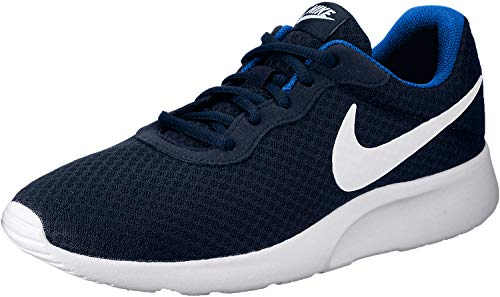 Nike Herren Tanjun Turnschuhe, Blau (Midnight Navy Blau/Weiß/Game Royal Blau), 41 EU