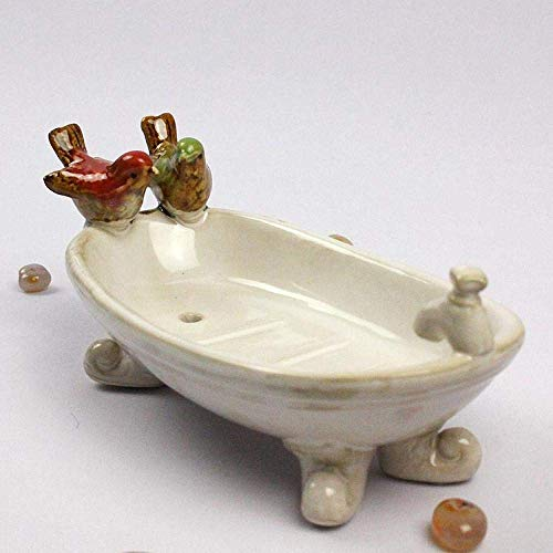 JKCKHA Arte Decoraciones Craft Piglet Creativa Adornos de cerámica de Dibujos Animados Lindo jabón Plato a casa