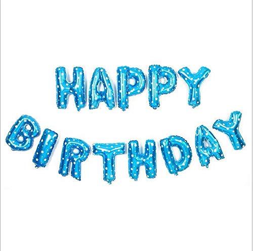 Zelf opblazen Gelukkig Verjaardag Banner Ballon Bunting 16 inch Letters folie
