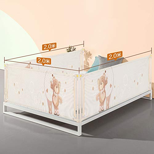 Read About LDJ Baby Bed Railing -3 Faces Fall Prevention Bed Guardrail, Big Bed Safety Side Guard wi...