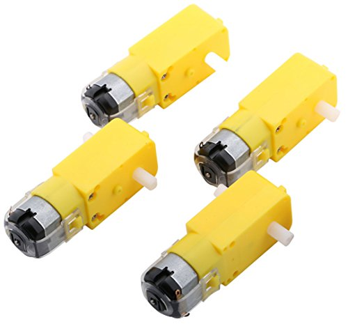 Yeeco 4PCS DC Electric Motor 3V-6V Dual Shaft Geared TT Magnetic Gearbox Engine 1:120 Reduction Ratio for DIY Robot Cars Chassis Models Vibration Products