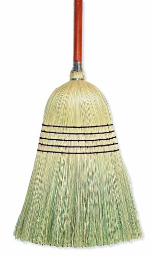 "Wilen E502036, Warehouse Corn Blend Broom with 1-1/8"" Handle, 32# Size, 56"" Length (Case of 6)"