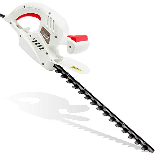 NETTA Hedge Trimmer and Cutter - 500W - 410mm Diamond Cutting Blade - 16mm Tooth Opening - 6M Power Cable - Ultra-Light 2.4kg - Two-Way Safety Switch - Soft Grip Handle