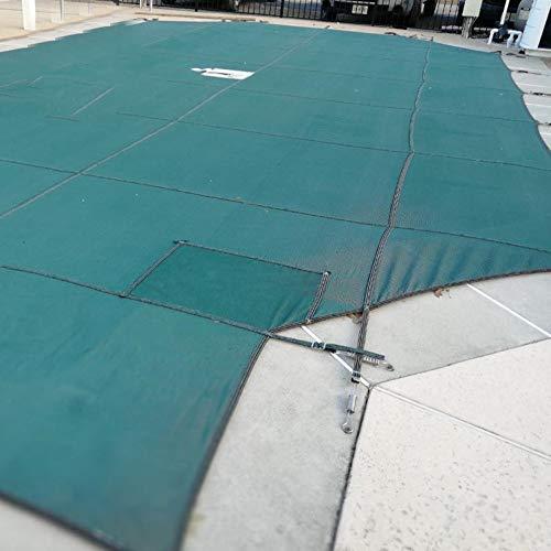 HH- Solarabdeckung Rechteck Pool Sicherheitsabdeckung Winter, Grüne Winterblatt-Netzabdeckung für Pool im Boden, Maximale Größe 16 × 32 Fuß (Size : 5m × 8m(16ft×26ft))