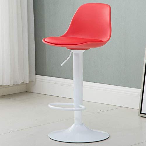 YLCJ Draaibare barkruk, verstelbare manicurestoel voor schoonheidssalons met rugleuning Verhoog de chassis-barkruk Computer Desk Book Table stoel (kleur: rood) rood