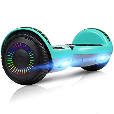 """LIEAGLE 6.5"""" Hoverboard Self Balancing Scooter with Bluetooth UL2272 for Kids(Green Grey)"""