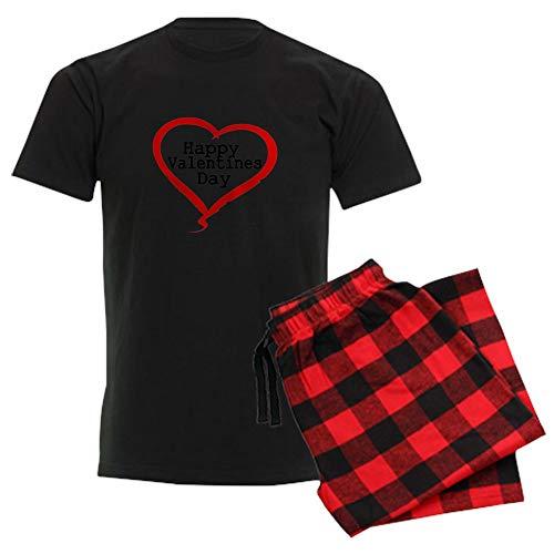 CafePress Happy Valentines Day with Large Heart Pajamas Unisex Novelty Cotton Pajama Set, Comfortable PJ Sleepwear