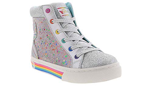 My Butterfly Girls High Top Sneaker with Elastic Laces &...