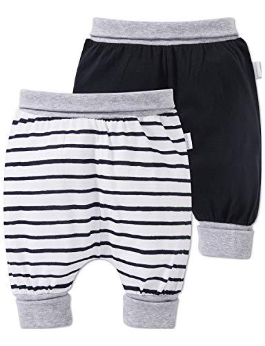 Schiesser Schiesser Unisex Multi-Pack 2pack Baby Hosen 3/4 Schlafanzughose, Mehrfarbig (Sortiert 1 901), 56 (Herstellergröße: 056) (2erPack)
