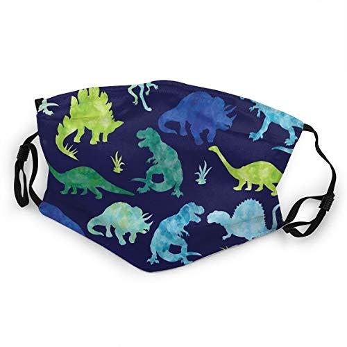 Mundschutz für Kinder, Aquarell, Dinosaurier, Silhouette, wiederverwendbar, Staubschutz