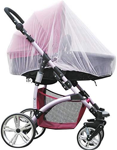 Universal Mosquitera Carrito Bebé -WENTS Red antiinsectos para capazo, silla de paseo y cuna de viaje,Portátil y duradero bebé insectos malla,150CM,Blanco 2PCS