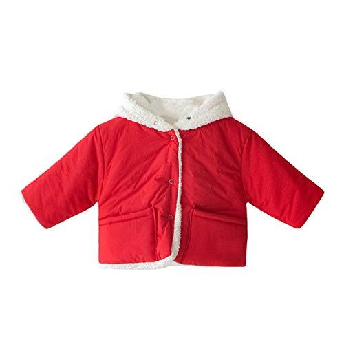 Baby Jungen Mädchen Schneebekleidung Baumwolle Plus Samt dick Warm Mantel Jacke Kapuze doppelseitig süße Ohren Gr. 6 Monate, a