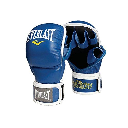 Everlast Erwachsene Leather Thai Striking Gloves Boxartikel, Blue, 12 OZ