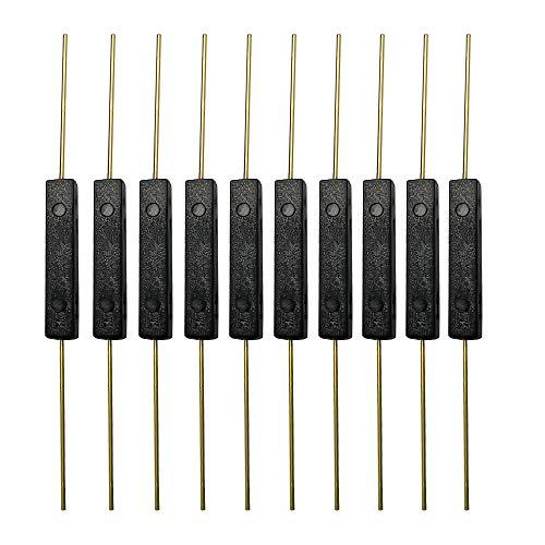 Gebildet 10 stücke Kunststoff Reedschalter Reedkontakt Schließer (N/O) Magnetischer Induktionsschalter (2mm×14mm)