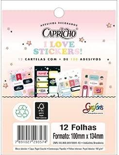 Ades Dec Bloco Capricho 12F Tilibra, Multicor