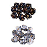 SM SunniMix Dice D10 Sets Speckled - 16mm Die Six Sided Die 20 Block of Dice