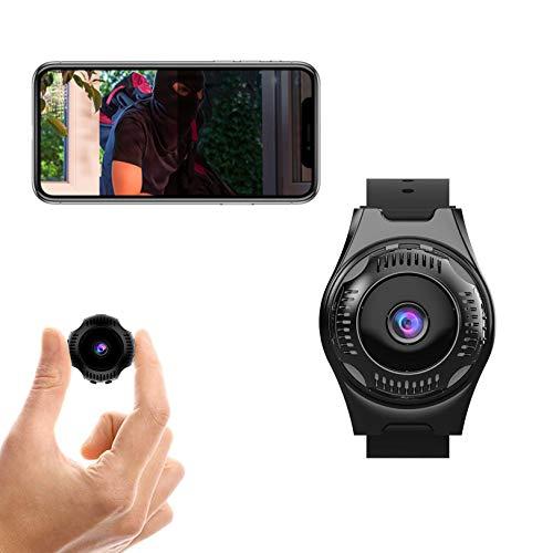 Mini Telecamera Spia Nascosta, Senhe 1080P Wifi Portatile Videocamera di Sorveglianza, Senza Fili Piccola Video Microcamera con Visione Notturna, Sensore di Movimentoy Batteria per Esterno/Interno