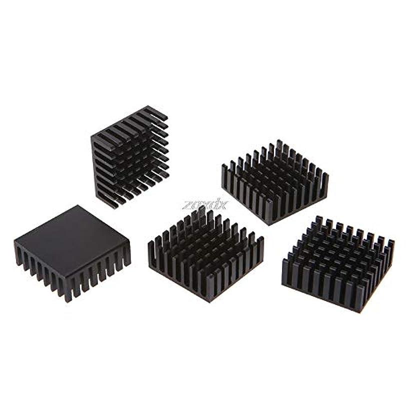 JadeShop 5pcs Computer Cooler Radiator Aluminum Heatsink Heat sink for Electronic Chip Heat dissipation Cooling Pads 252510mm July